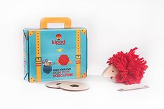 "DIY Kit, ""Pom Pom porcupine"" wood and wool  ""Pom Pom Lion"" DIY Kit (wood & wool ) Now on Kickstarter : http://kck.st/1MCJU4V A great creative activity for your kids"