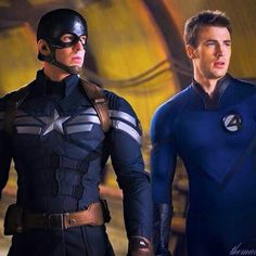 Imagine it<---double vision, lol. Steve Rogers personality and demure is totally different than that of Johnny Storm's. Steve follows the rules and Johnny doesn't.