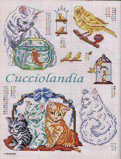 Gallery.ru / Photo # 42 - SUSANNA SOLOALBUM 2002-11 + Archive - Mosca Cat Cross Stitches, Cross Stitch Needles, Cross Stitch Bird, Cross Stitch Alphabet, Cross Stitch Animals, Cross Stitch Charts, Cross Stitch Designs, Cross Stitching, Cross Stitch Embroidery