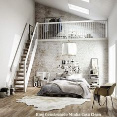 Construindo Minha Casa Clean: 27 Quartos com Mezanino!!! Veja Dicas e Ideias!