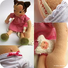 Her waldorf style dolls are so sweet!