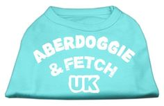 Mirage Pet Dog Cat Indoor Oudoor Apparel Gift Accessories Aberdoggie UK Screenprint Shirts Aqua Large 14 ** Check this awesome product by going to the link at the image.