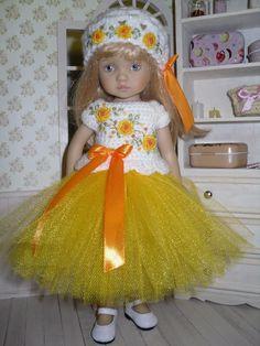 Set for Dianna Effner Little Darling Boneka 10 inches doll - blouse, skirt, hat. | eBay