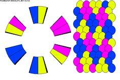 12 strand kumihimo pattern; makes a cool diamond pattern