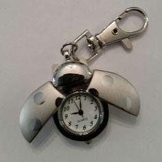 Schlüsselanhänger / Marienkäfer / Uhr /