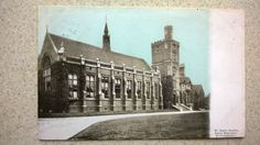 Postcard Grammar School WOLVERHAMPTON Staffordshire. W Harris Bradley Fancy Emp.