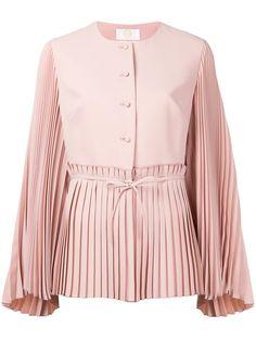 Sara Battaglia Pleated Detail Jacket In Pink/purple Modest Fashion, Hijab Fashion, Girl Fashion, Fashion Outfits, Crop Top Outfits, Edgy Outfits, Cool Outfits, Fashion Details, Fashion Design