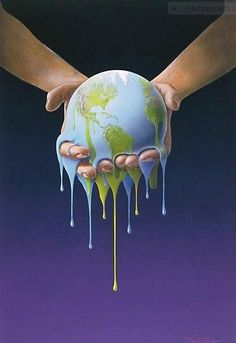 Melting Earth illustration by Bjørn Richter Tattoo Manche, Art Environnemental, Save Our Earth, Illustration, Environmental Art, Climate Change, Street Art, Artwork, Ecology