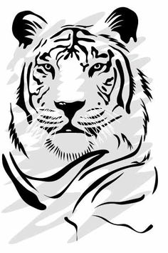Tiger Head Stencil Tiger stencil vector africa