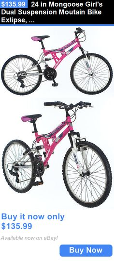 bicycles: 24 In Mongoose Girls Dual Suspension Moutain Bike Exlipse, Pink BUY IT NOW ONLY: $135.99