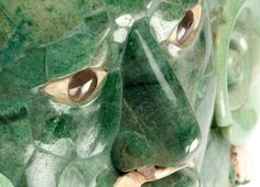 The Calakmul Mask is a funerary piece elaborated in jade mosaic, shell and gray obsidian, found in Tomb 1 in Structure VII, in the archaeological zone of the same name, in the state of Campeche, whose antiquity goes back to 660 and 750 AD.