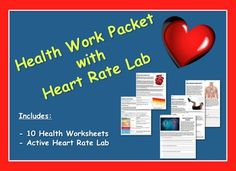 Health Work Packet w/ Target Heart Rate Lab Health Activities, Science Resources, Science Lessons, Literacy Activities, Life Science, Teacher Resources, Teacher Pay Teachers, Science Ideas, Teaching Ideas