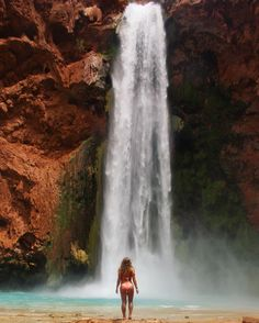 "Nicole Manelas on Instagram: ""Adventures are calling and I must go. #havasupai #mooneyfalls #waterfall"""