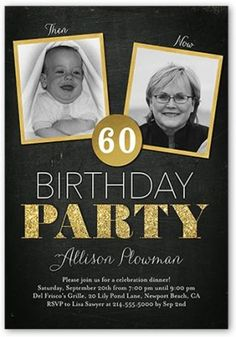 Celebrate your birthday with style! Create adult birthday invitations with Shutterfly. We also offer surprise birthday party invitations in custom designs. 60th Birthday Ideas For Dad, 70th Birthday Parties, Dad Birthday, 60 Birthday Party Ideas, Birthday Frames, Birthday Banners, Birthday Quotes, Birthday Cards, Birthday Gifts