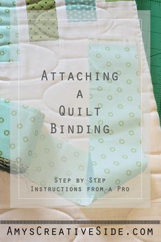 Quilt bindings are the most magical, and sometime confusing part of quilt making, especially for a new quilter! I shared a tutorial a few years back, but have adapted and made a few changes as I've grown as a quilter, and thought it was enough to update t Quilting Thread, Quilting Tools, Quilting Tutorials, Hand Quilting, Machine Quilting, Quilting Projects, Quilting Designs, Sewing Tutorials, Sewing Projects