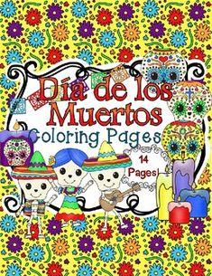 Fun Dia de los Muertos Coloring Pages! $