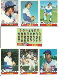 Vintage 1979 Topps CUBS team set 28 cards HOF Sutter Team Card Kingman Murcer #ChicagoCubs