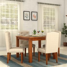 Beau The Angelica Porsche 4 Seater Dining Set Has Marvellous Looking Fabric #dining  Chairs And A