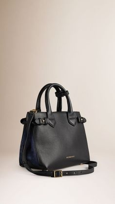 The Small Banner in Leather - Blue Burberry KwilD5MT