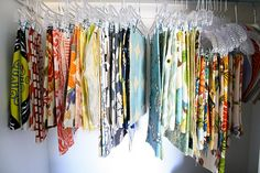 fabric organization - also great way to use those hanger