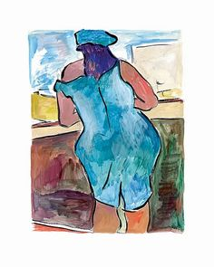 www.canvasgallery.com Bob  Dylan Woman In Red Lion Pub (Blue) 2008