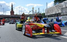http://pronewsonline.com Daniel Abt of the Audi Sport Abt prior to the race at the FIA Formula E Championship in Moscow. (RIA Novosti / Alexey Kudenko)