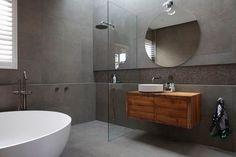The Block (season week bathroom reveals - The Interiors Addict Reece Bathroom, Art Deco Bathroom, Bathroom Gallery, Bathroom Images, Bathroom Ideas, Bathroom Pics, Bathroom Inspo, Bathroom Designs, Ensuite Bathrooms
