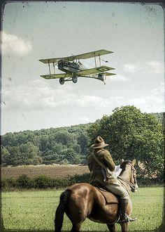 WW1 Aviation, SE5A Biplane - Le Royal Aircraft Factory S.E.5 était un avion de chasse biplan britannique de la Première Guerre mondiale.