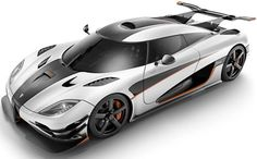 2014 Koenigsegg One-1: 5.0 Liter V8 with 1360 Horsepower. Top Speed of 273 mph.