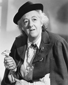 One of the most delightfully eccentric comediennes - English actress, Dame Margaret Rutherford She is best known for her roles in Blithe Spirit, The Importance of Being Earnest, and her campy roles as Agatha Christie's sleuth, Miss Marple. Margaret Rutherford, English Actresses, British Actresses, British Actors, Actors & Actresses, Comedy Actors, Miss Marple, Agatha Christie, Hercule Poirot
