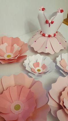 Princesas papel flor fondo para guardería sala de niñas