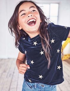 Embroidered Star T-Shirt | Mini Boden