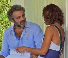 Domingos Montagner e Camila Pitanga nos bastidores de 'Velho Chico' (Foto: TV Globo)