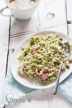 Broccoli-koolrabi salade met cashewnoten en een pittige dressing | simoneskitchen.nl