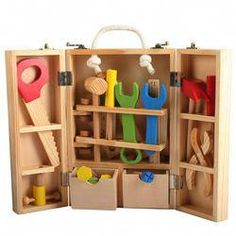- pädagogisches Spielzeug multifunktionale Demontage Tischler Werkzeugkasten Kits… Educational Toy Multifunctional Disassembly Carpenter Tool Box Kits on AliExpre … – - Baby Toys, Toddler Toys, Baby Play, Mobile Baby Holz, Toys For Boys, Kids Toys, Wooden Toys For Kids, Tool Box Kit, Tool Set