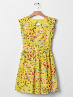Floral bloom flutter dress