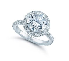 The Round Larisa Setting - Micro-Pave - Engagement Rings