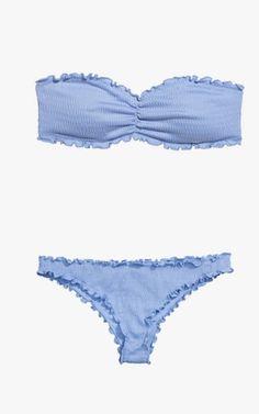 H&M bandeau bikini top, $13; H&M bikini bottoms, $10.