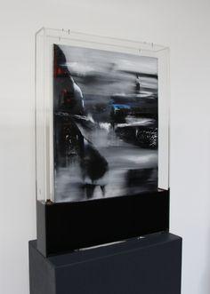 pietro Conti | Senza Tempo Nr. 1 - Oil on Canvas infused with bitumen - 85 x 60 x 10 cm - 2013