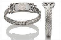 Women's Navy Bracelet - Silver Emblem