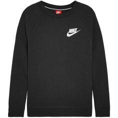 Nike Cotton-blend jersey sweatshirt ($55) ❤ liked on Polyvore featuring tops, hoodies, sweatshirts, nike, nike sweatshirts, relaxed fit tops, cotton jersey and nike top