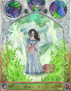 """Sorcha from """"Daughter of the Forest"""" by Juliet Marillier."""