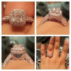 I am in LOVE with this Vera Wang engagement ring I tried on the other day. Hope it's the one he gets me. ^.^
