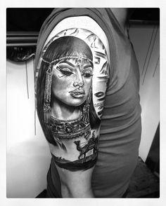 #realistic #realistictattoo #hyperrealism #portraittattoo #cleopatra #cleopatratattoo #egypt #egypttattoo #malta #themadtattermalta