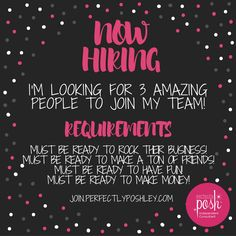 I am looking to sponsor a few people whom I can take to the top with me!  I am eager to share with some motivated self believers!!  When you join Perfectly Posh you: - Get paid EVERY Wednesday - Can Earn Bonuses - Can Earn fully paid vacations ✈️ - Work from ANYWHERE!!!!  - Get paid on your team   Comment POSH for more information about my awesome little business!  #PerfectlyPosh #poshley #joinmyteam #recruit #sponsor #teamleader #support #motivated #madeinusa #skincare #snarkypixies