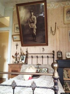 House Bélâbre, in Indre. The room never changed after the soldier left to fight in WW1, and died in 1918.