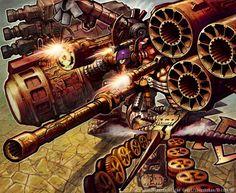 Armored Blaster Baldios by Hisashi Momose-Duel Masters artwork