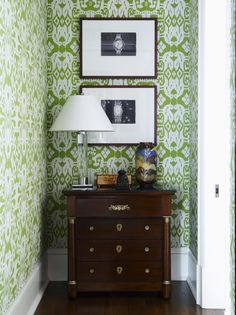Philip Gorrivan Design New York - Not normally a fan of wallpaper but like this one