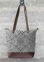 Statement Bag - Retro Bw Statement Bag in Black/Grey/White by VIDA Original Artist You Bag, Your Shoes, Grey And White, The Originals, Retro, Unique, Artist, Bags, Touch