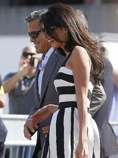 All smiles ... heading to the luxury Cipriani hotel in Venice. Picture: AP